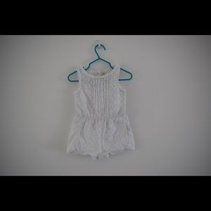 12 month Genuine Kids White Lace Romper
